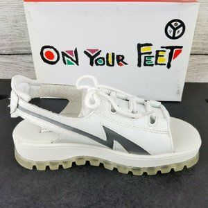 NEW CL White Leather Platform Sneaker Sandal Shoes